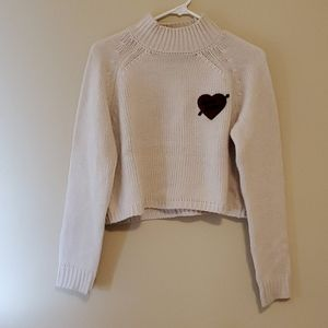 Forever 21 cropped turtle neck sweater size s